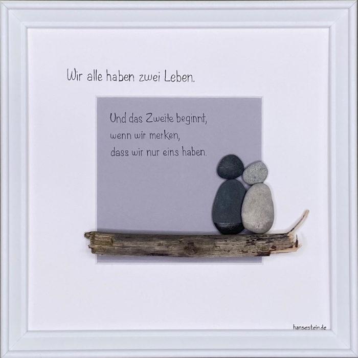 hansestein steinbild freundschaft M1 weiß