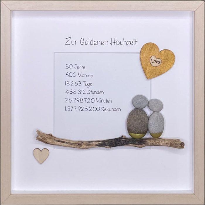 hansestein steinbild goldene hochzeit H1 gold